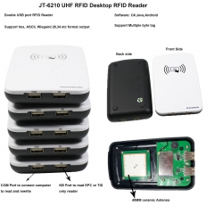 Desktop RFID Reader with double USB Port